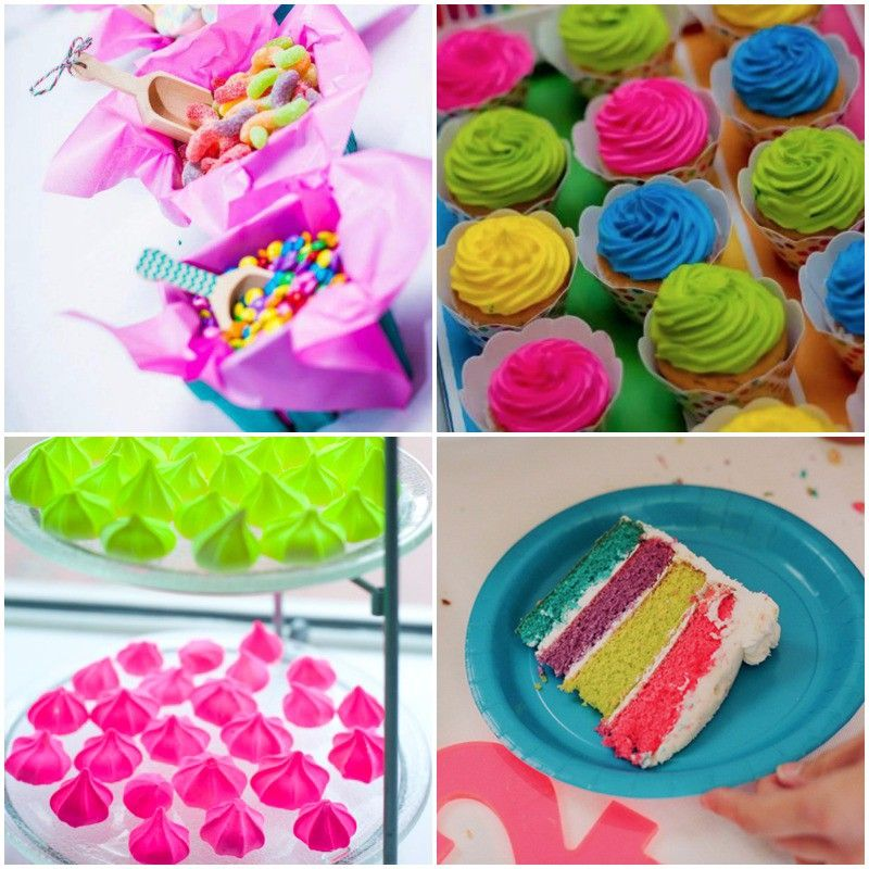 Dulces para una fiesta neon muy f ciles de hacer - Ideas para cumpleanos infantiles ...