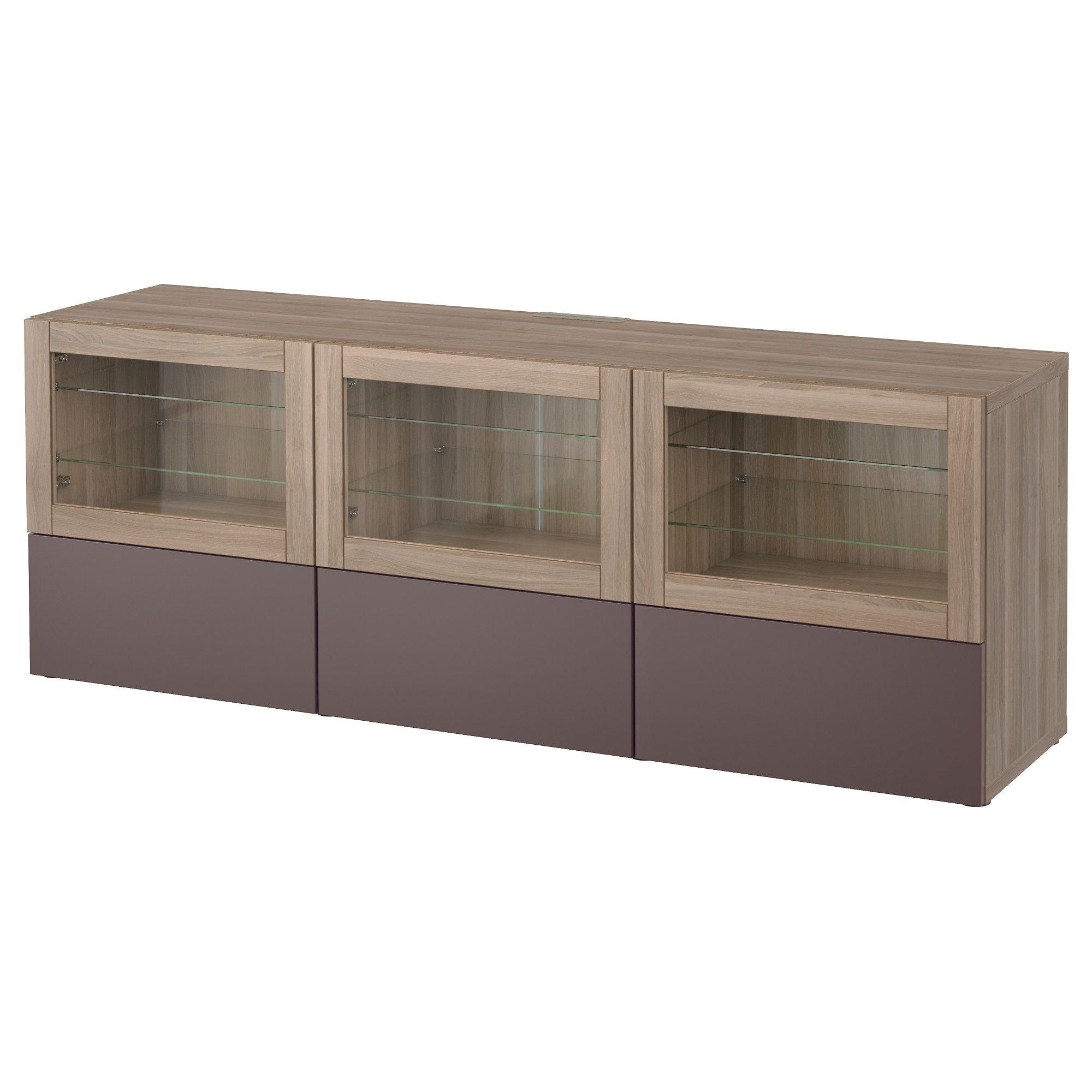 BESTÅ, TV-Bank mit Türen und Schubladen, grau las. Nussbaumnachb., Jetzt bestellen unter: https://moebel.ladendirekt.de/wohnzimmer/tv-hifi-moebel/tv-lowboards/?uid=145a7c33-b182-59d4-934e-aa8f26a057dc&utm_source=pinterest&utm_medium=pin&utm_campaign=boards #tvlowboards #wohnzimmer #tvhifimoebel