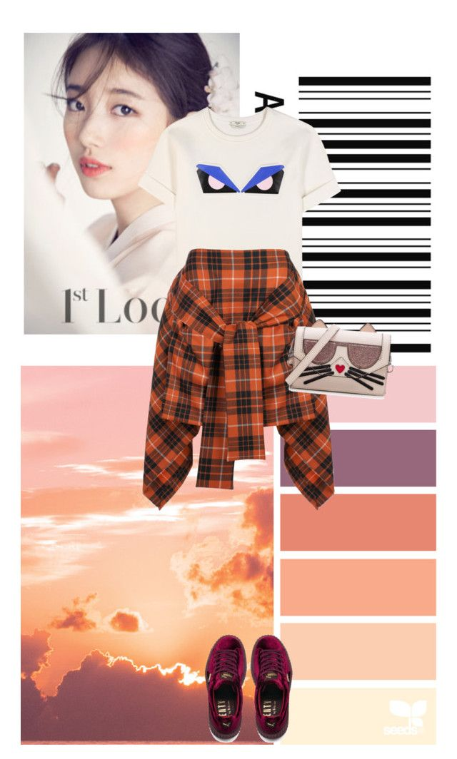 Untitled #463 by chau-bao-ngan on Polyvore featuring mode, Fendi, Vivienne Westwood Anglomania, Puma and Karl Lagerfeld
