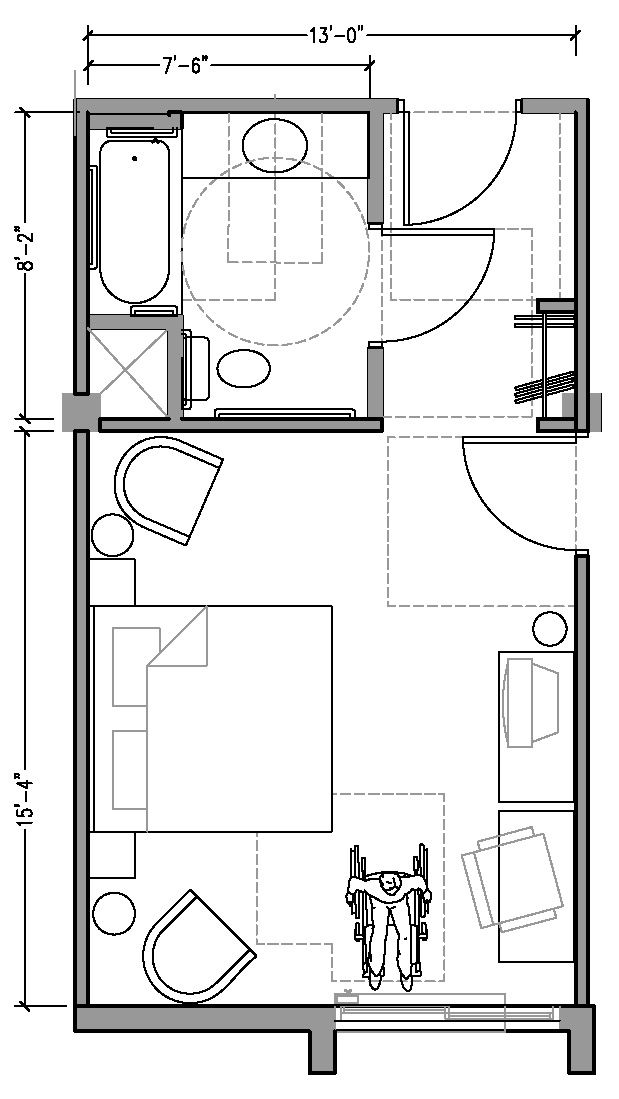 Appendix A Hotel Room Design Plan Hotel Room Plan Hotel Floor Plan