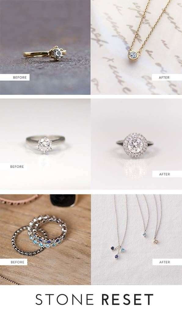 5a9f5f86a Is there anything in your jewelry box ready for a makeover? We are loving  how these recent Stone Resetters reimagined their pieces.