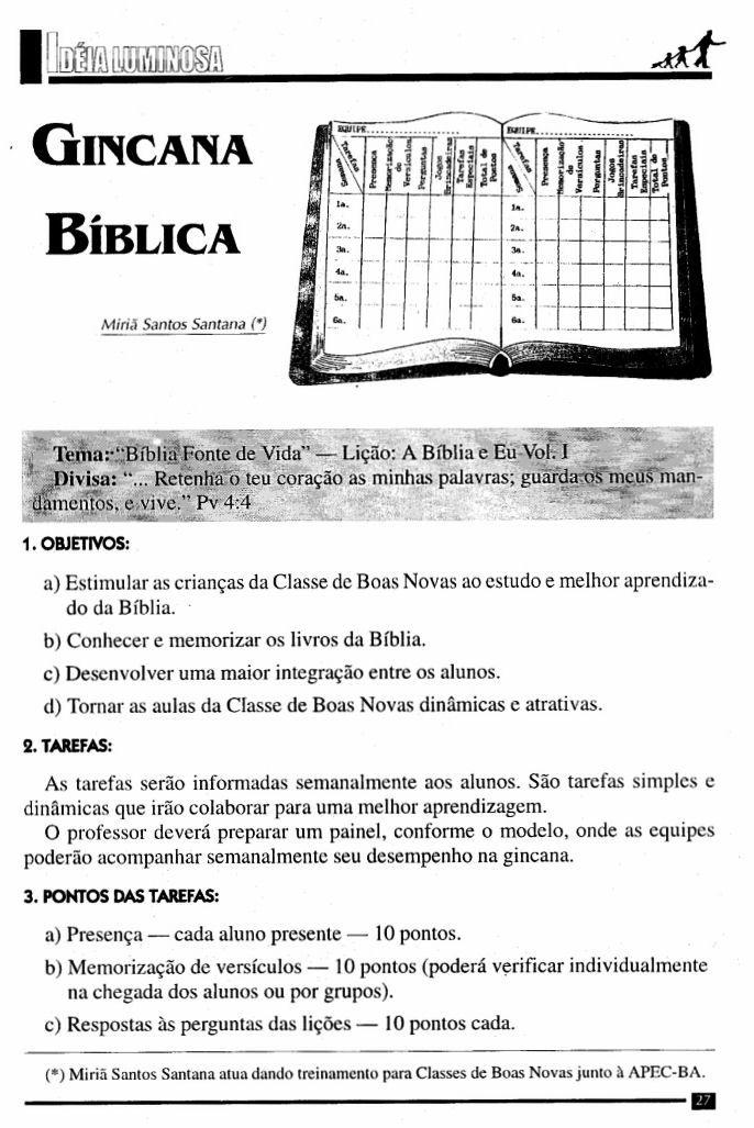 Preferência ministerio infantil e juniores: GINCANA BIBLICA | dinâmicas para  ZS12