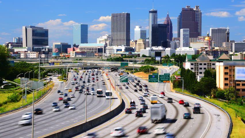 Atlanta Day Skyline Walkable city, Atlanta skyline