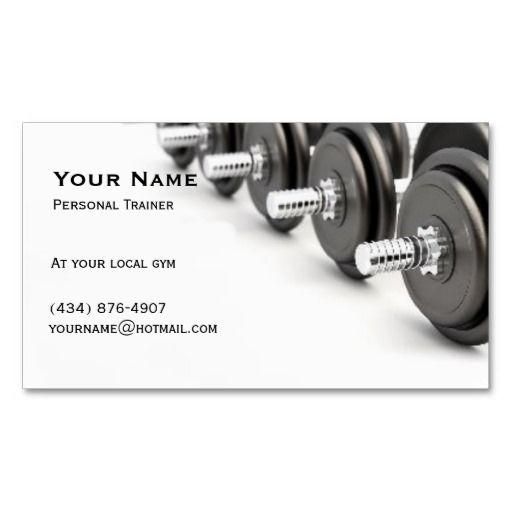Personal trainer business card template fitness business card personal trainer business card template accmission Gallery