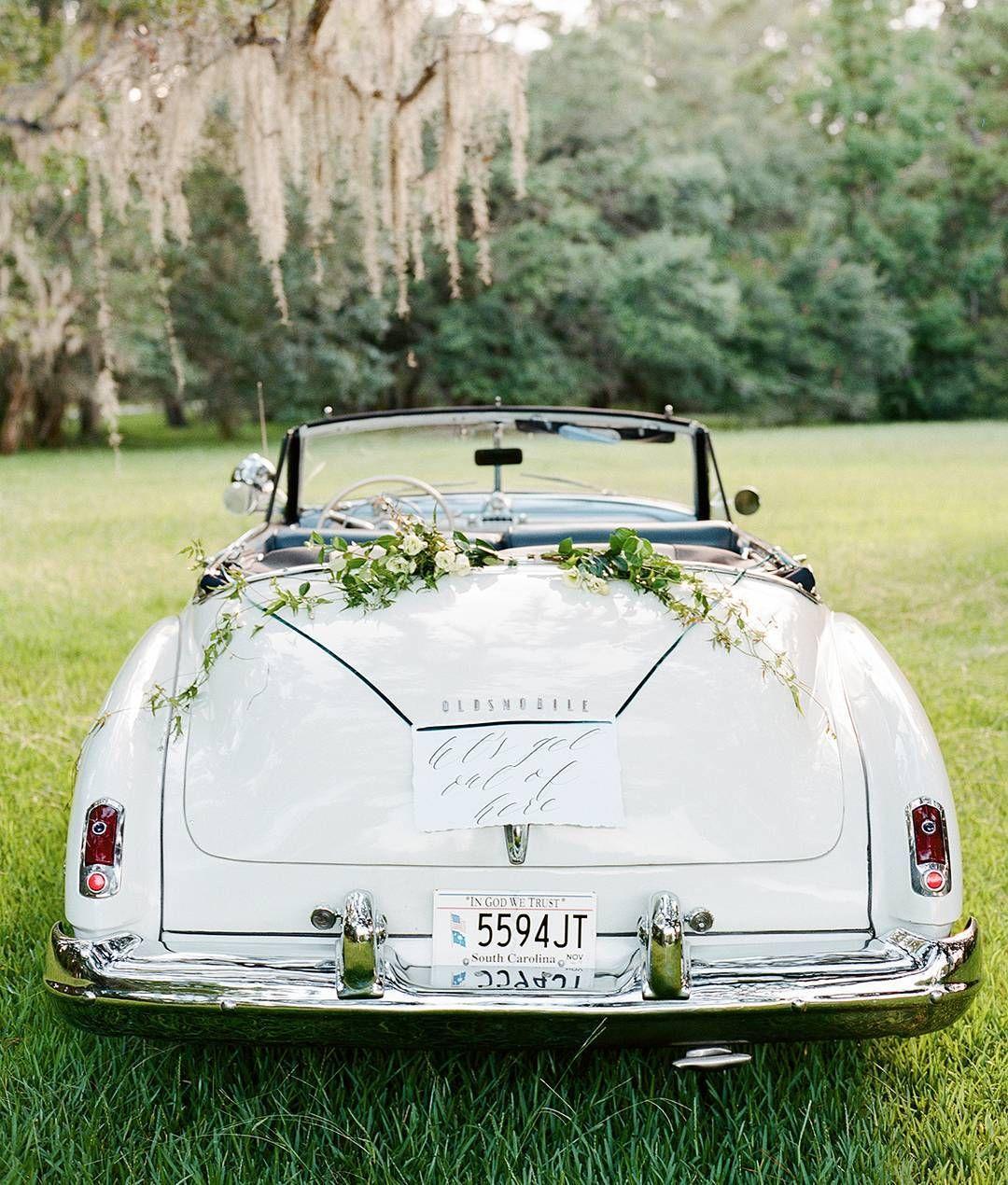 We Couldnt Imagine A Prettier Vintage Getaway Car Wedding Car