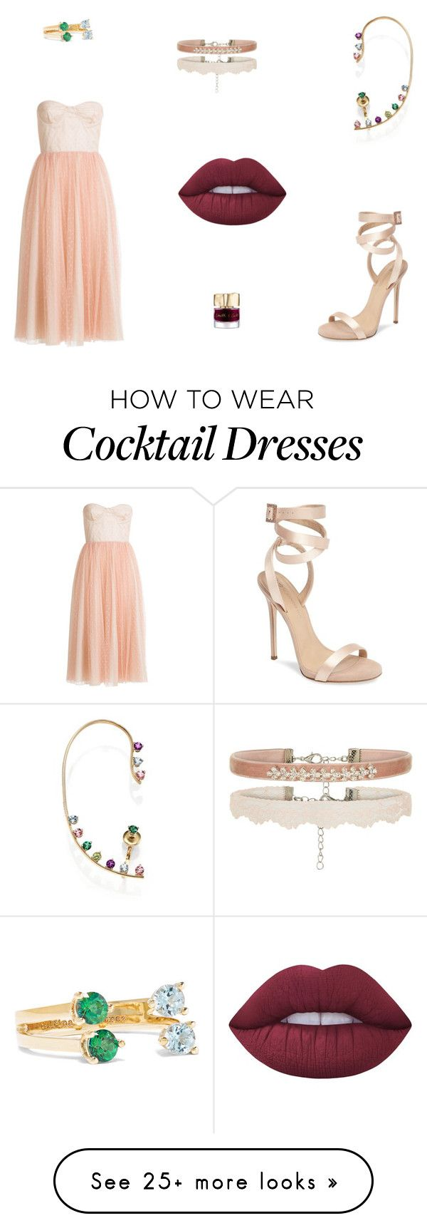 """""""Untitled #8304"""" by mie-miemie on Polyvore featuring RED Valentino, Delfina Delettrez, Giuseppe Zanotti, Lime Crime and Smith & Cult"""