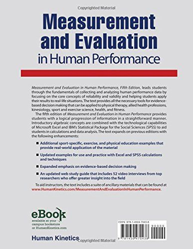 Measurement and Evaluation in Human Performance With Web Study Guide