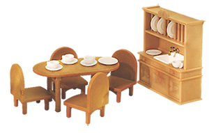 Calico Critters Country Dining Room Set