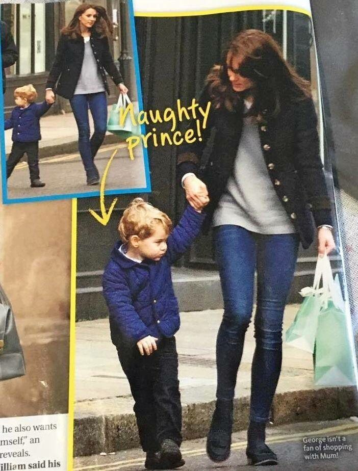 Prince George shopping with his MuM