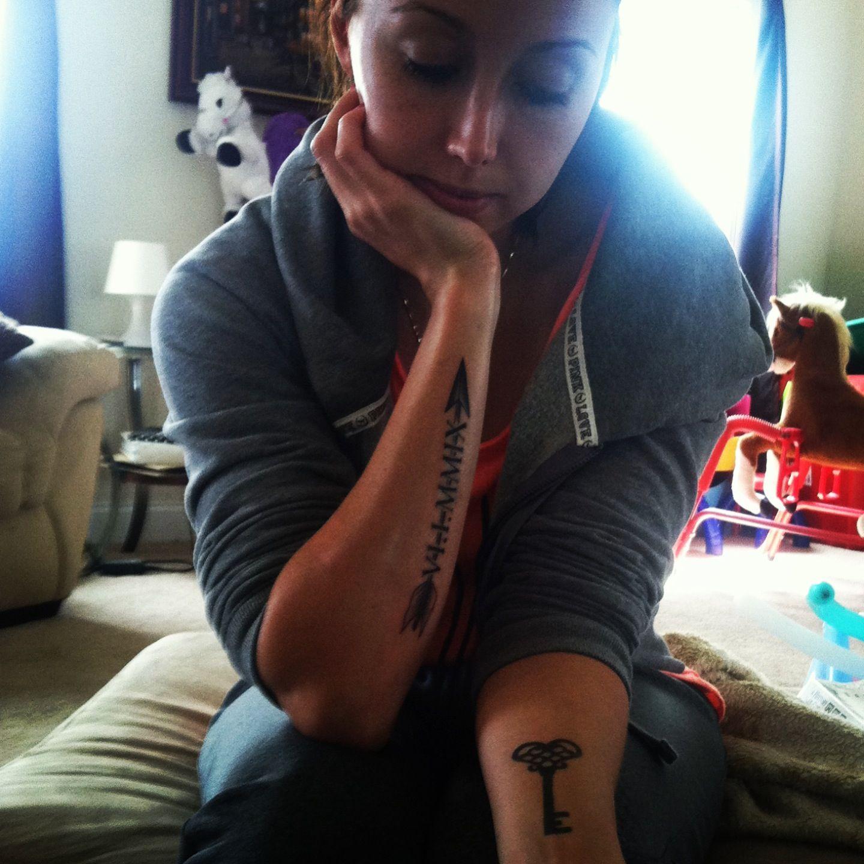 Arrow, key, Roman numeral tattoos Tattoos Pinterest
