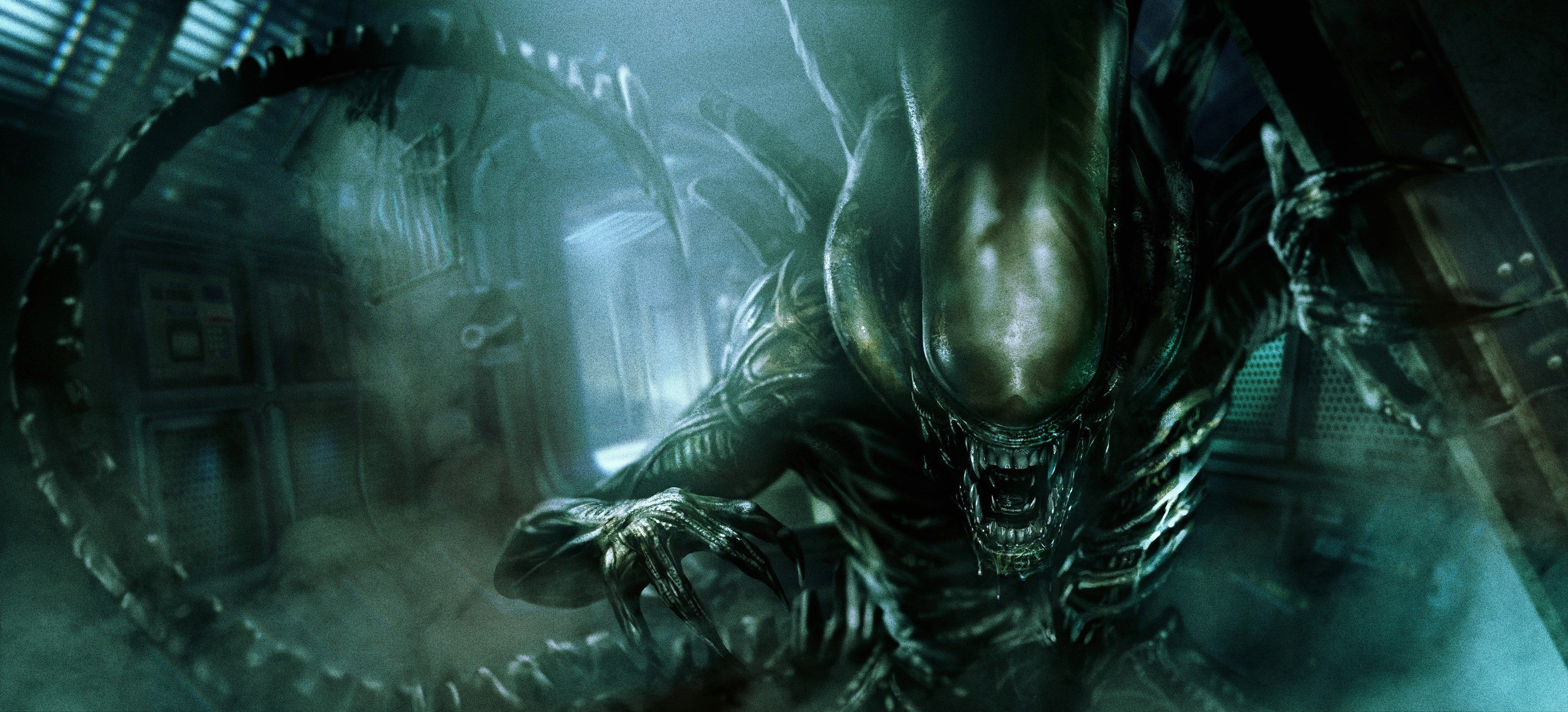 3840x1745 Alien 4k Free Pc Hd Wallpaper Xenomorph Alien Artwork Alien