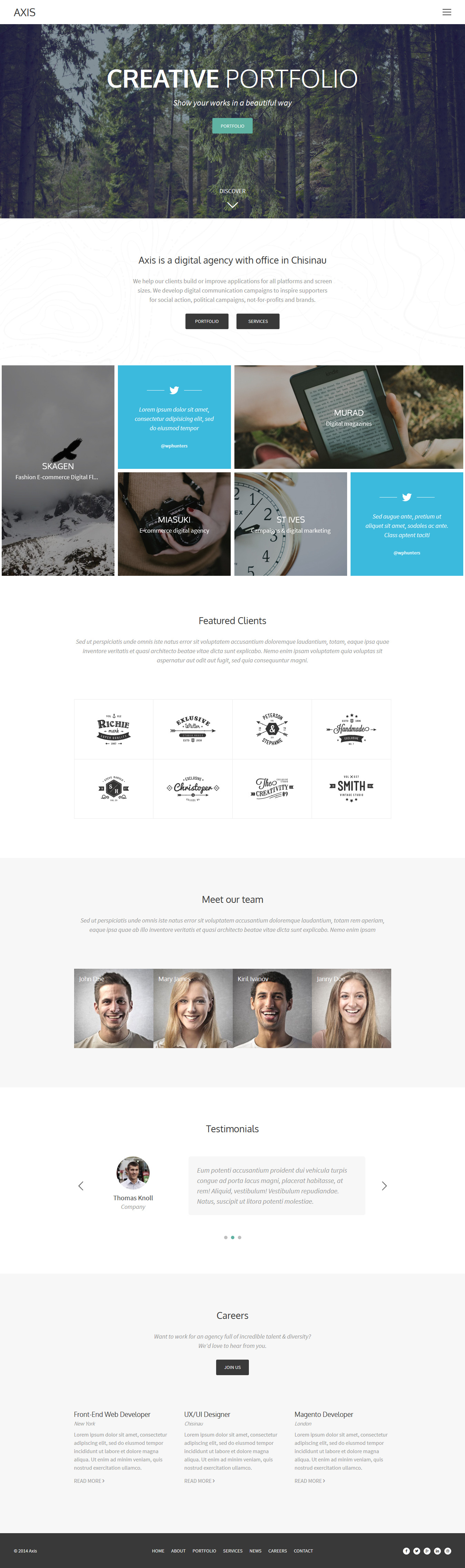 Axis - Portfolio Template for Creative Agency HTML Template ...