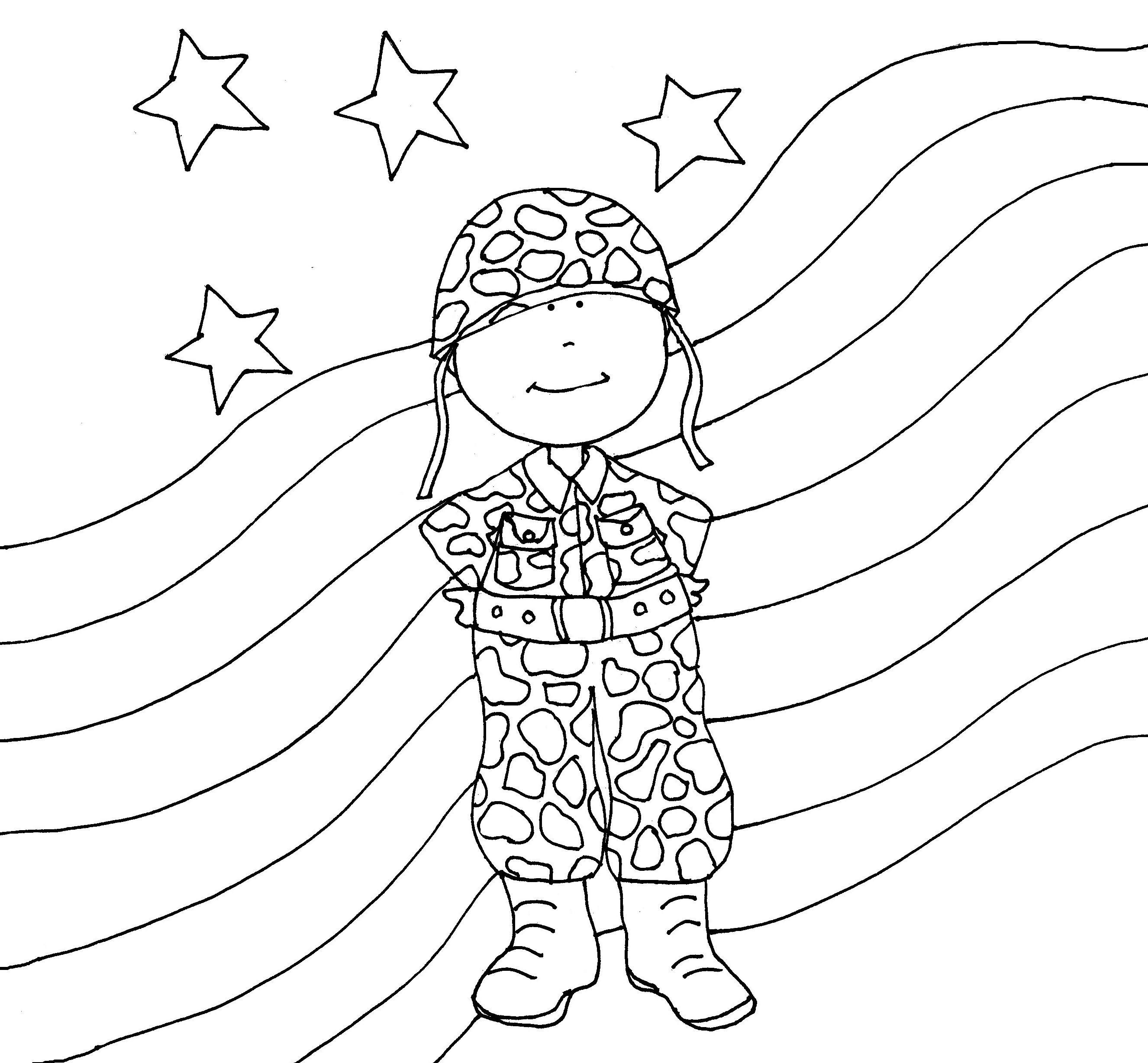 Soldier | Dearie Dolls Digi Stamps  I love all of Mary Ellen's free digis, but this one and the soldier girl will be great for Operation Write Home cards!