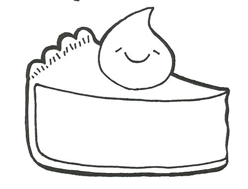 Slice Pie Coloring Page Coloring Pages Super Coloring