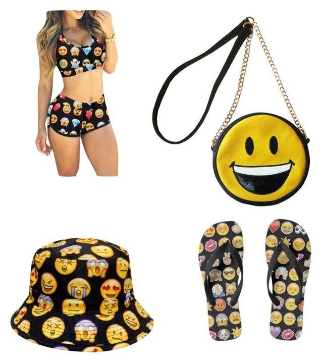 Emoji Costume da bagno Ragazze Emoji