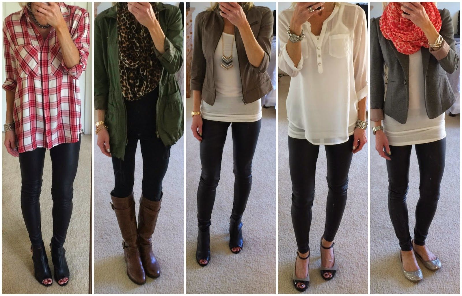 67eb71cd0cc68 How to wear faux leather, scuba, leder leggings, outfit options, ways to  style