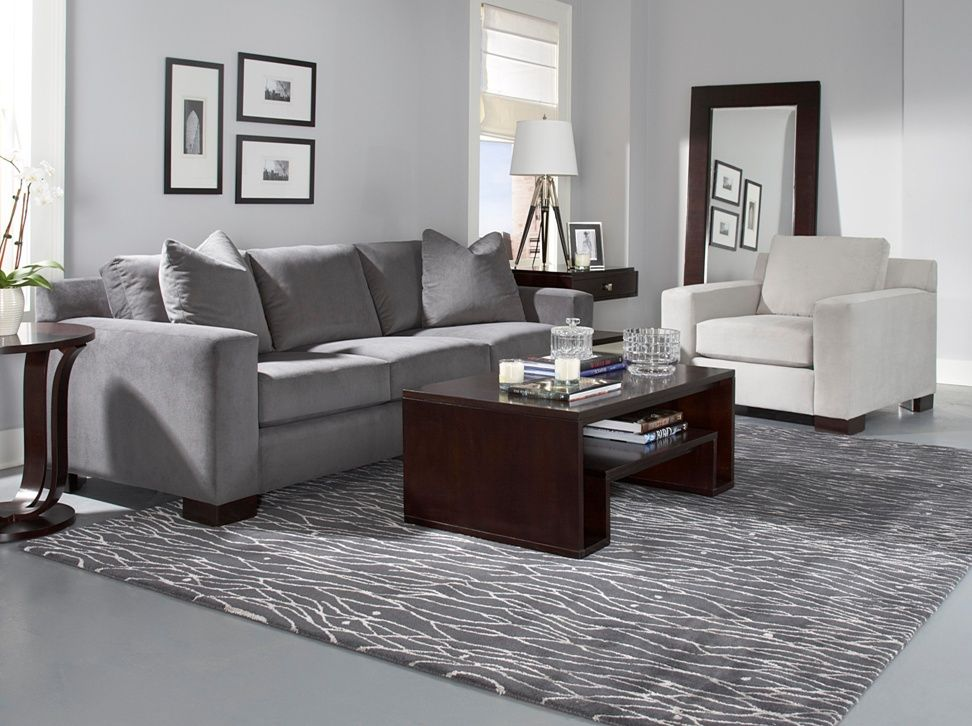 Benson Sofa The Deco Inspired Benson Sofa Is Designed By Glucksteinhome Details Include A Loose Box Border Back Wide Track Arms All Over Single Seam S Deco