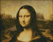 Mona Lisa -  By Leonardo de Vinci 1503 - 1505 Counted Needle Point and Cross Stitch Chart Patterns