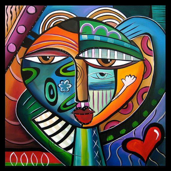Hypnotik - Original Large Abstract Contemporary Modern POP Art Painting by Fidostudio