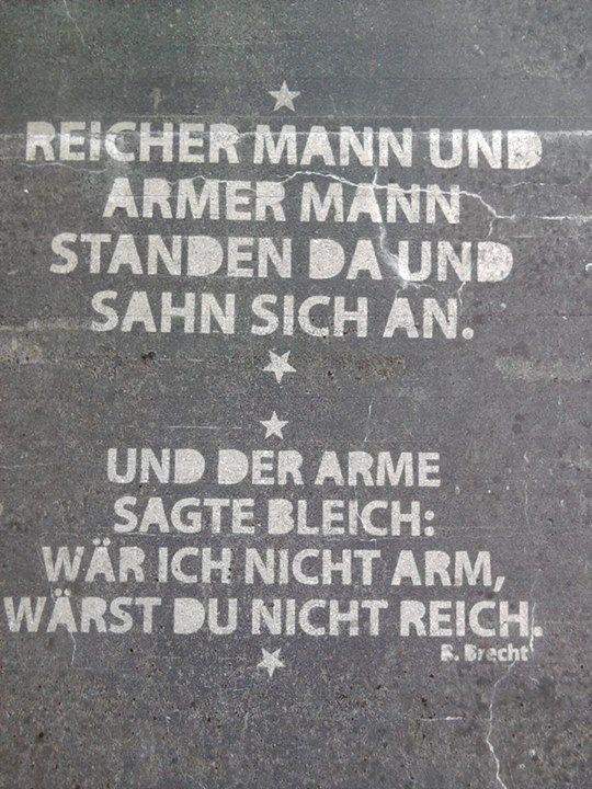 Bertold Brecht Auf Hauswänden Sprüche Zitate Zitate Und