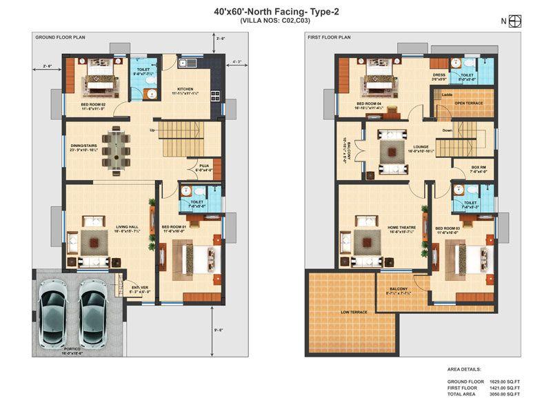 design luxury villa house plans indian type irish mod exterior ...
