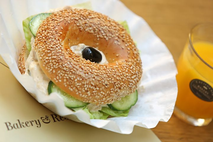Tuna Salad Bagel by California Bakery