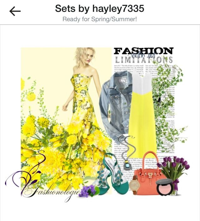 Spring has sprung #spring #yellow #fashion #polyvore