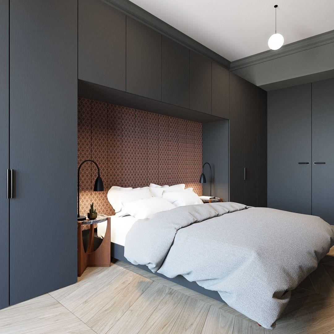 Armario alrededor recamaras - Papel pintado dormitorio principal ...