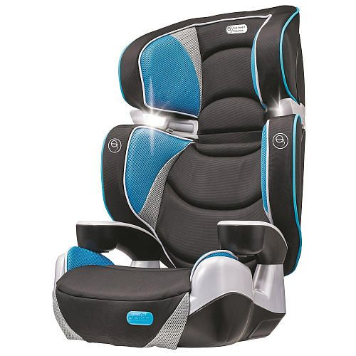 Evenflo Rightfit Booster Car Seat Capri With Reading Lights 30 Lbs Car Seats Baby Car Seats Evenflo
