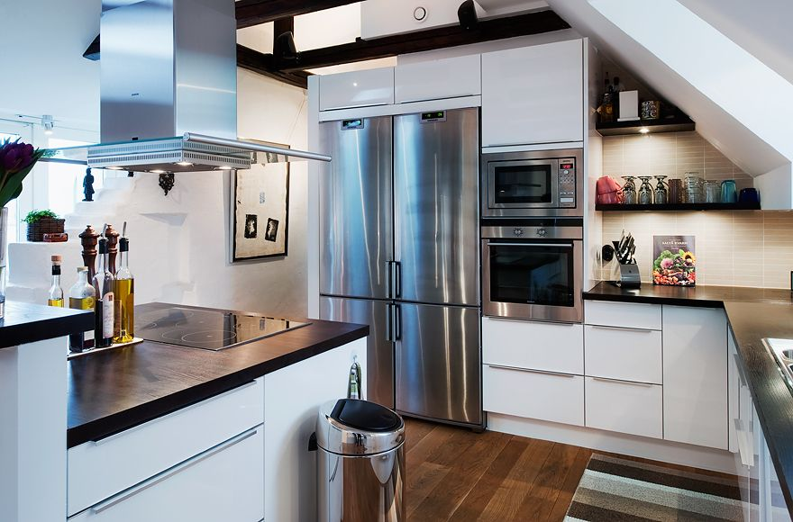 30 Kitchen Sloping Roof Ideas Kitchen Design Attic Kitchen Attic Apartment