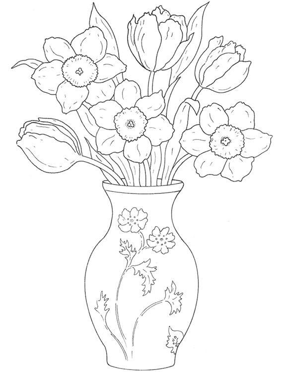 Vaso De Flor Flores Para Colorir Arte Flor Coisas Para Desenhar