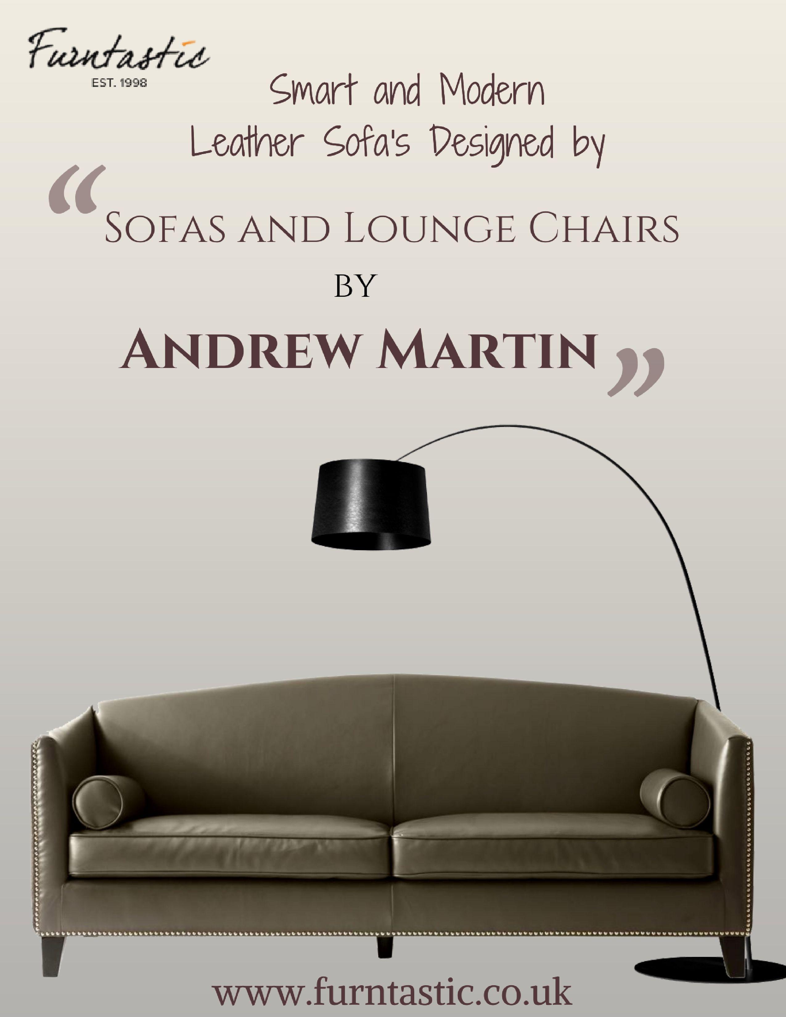 Andrew Martin Dorchester Sofa A slick grey bi-cast leather sofa with ...