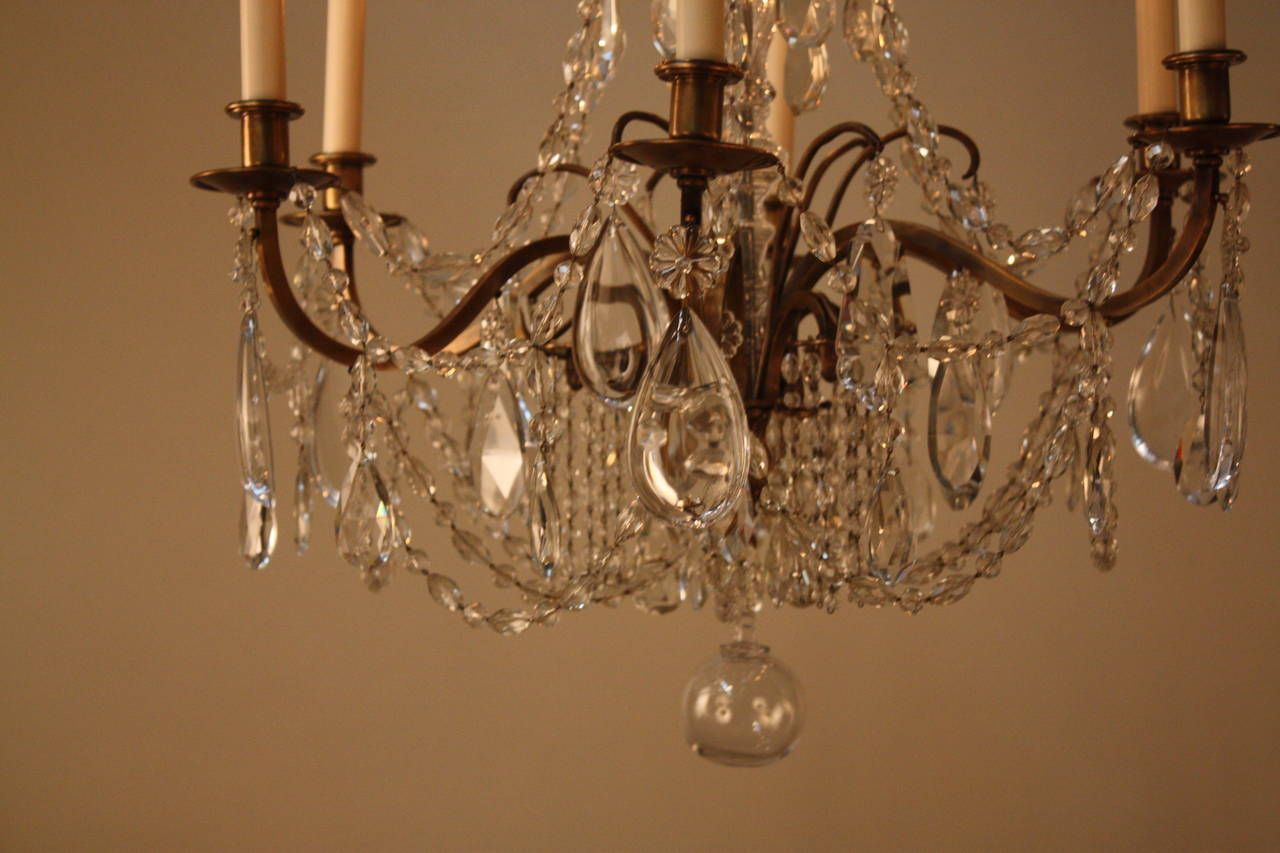 Elegant French Crystal Chandeliers | From a unique collection of antique and modern chandeliers and pendants  at https://www.1stdibs.com/furniture/lighting/chandeliers-pendant-lights/
