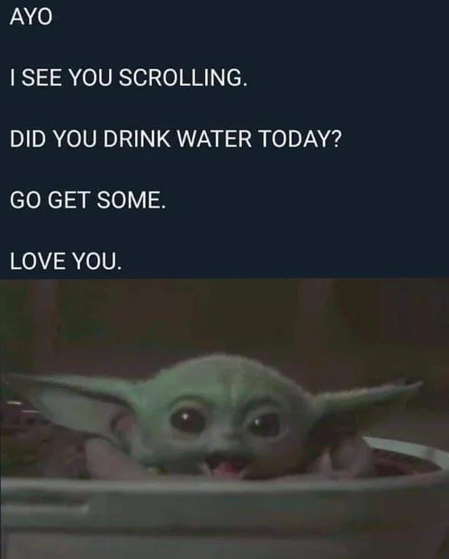 Baby Yoda With A Psa Image Hydrohomies Reddit Yoda Funny Yoda Meme Star Wars Humor