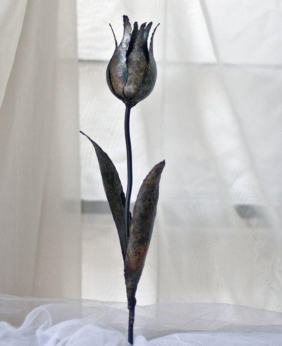 Metal Tulip Steel Flower Metal Artwork Yard By TheSteelStyleThings