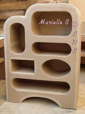 Meuble etagere en carton avec six cases Craftylady 2 Pinterest