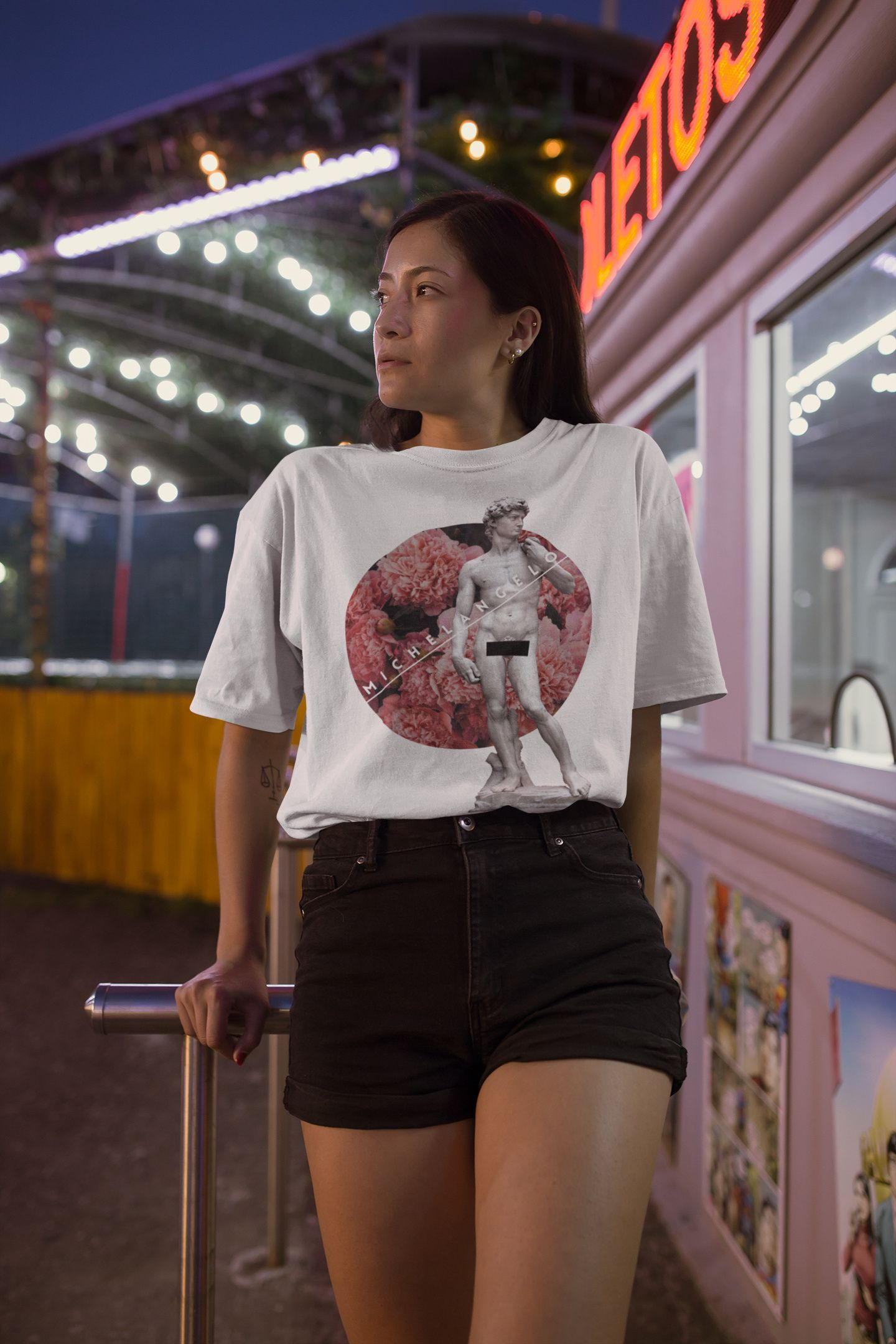 David T-shirt Michelangelo shirt Renaissance Vintage | Etsy