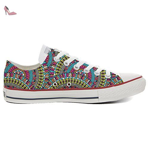 Make Your Shoes Converse Customized Adulte - chaussures coutume (produit artisanal) Mexican Texture size 36 EU JPGYfoV