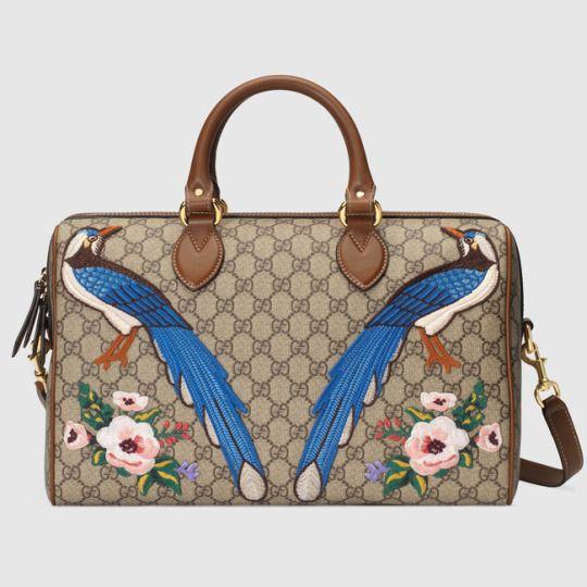 Limited Edition Gg Supreme Top Handle Bag Gucci Gg Top Handle Bag 409527 Gucci Gg Handle Bag Gucci Leat Women Handbags Shoulder Bag Women Embroidered Handbag