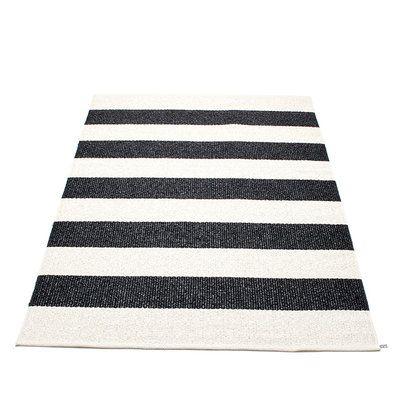 Pappelina BOB / Black • Vanilla - tapis tressé, fabriqué en Suède - design Pappelina