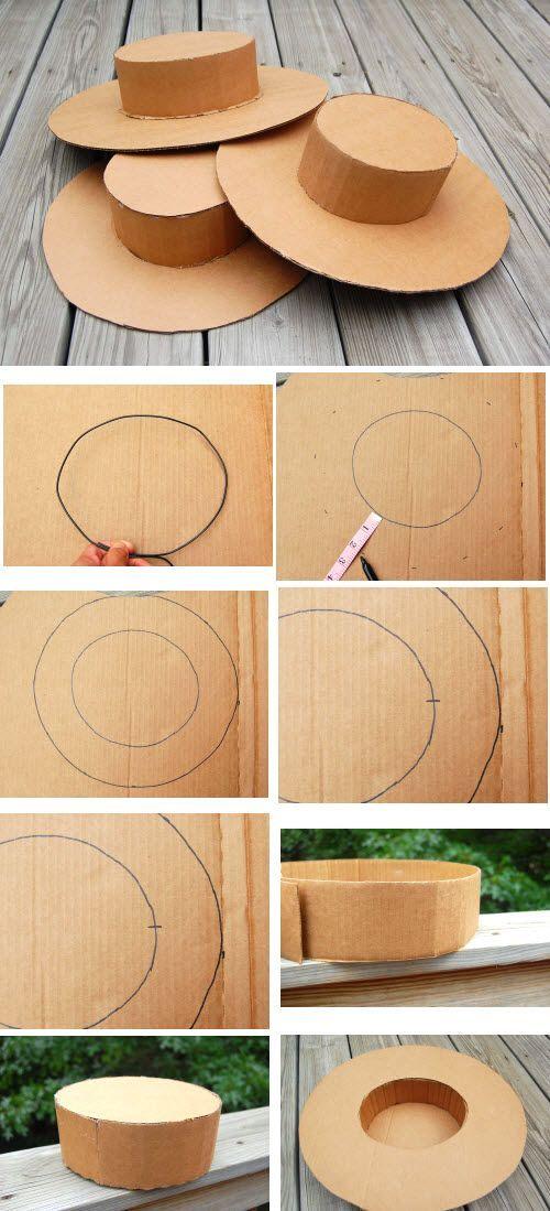 comment fabriquer un chapeau en carton astuces activit s enfants pinterest carton. Black Bedroom Furniture Sets. Home Design Ideas