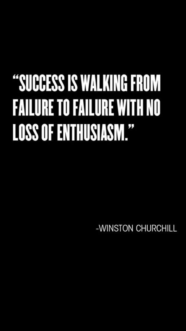Winston Churchill Quotes. Success is walking from failure ... |Powerful Quotes About Failure Churchill