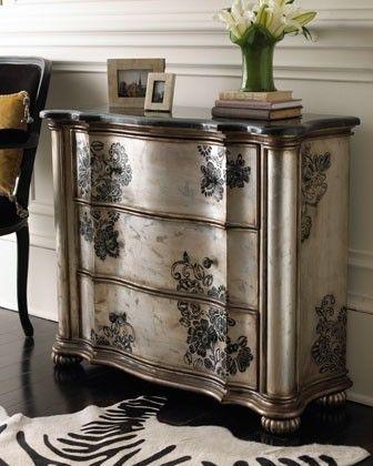 Repeindre un meuble avec une peinture effet métal peinture et