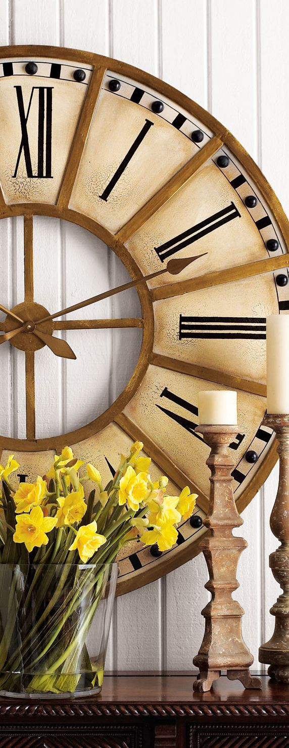 "Train Station Clock / ""consider large scale in any room over 14x16 feet. "" designnashville"