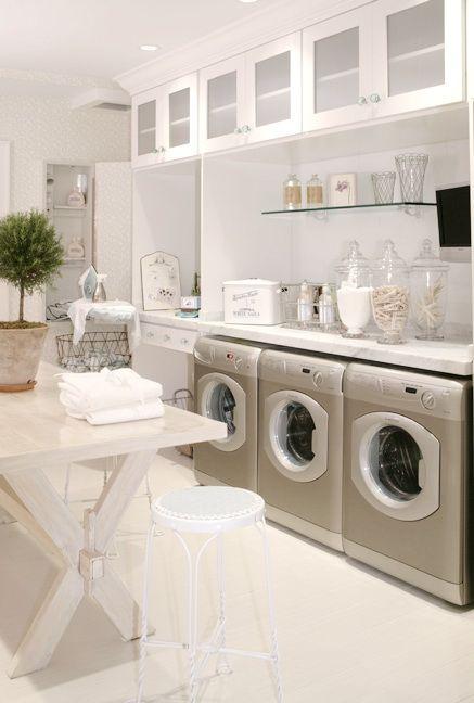 ಌ ~ ♛ ~ಌ  laundry room(세탁실)  Pinterest  빨래방, 쉐비 시크 ...
