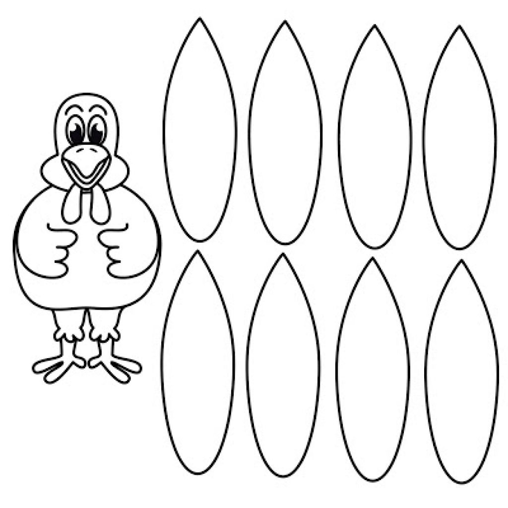 The Excellent Turkey Coloring Page Without Feathers