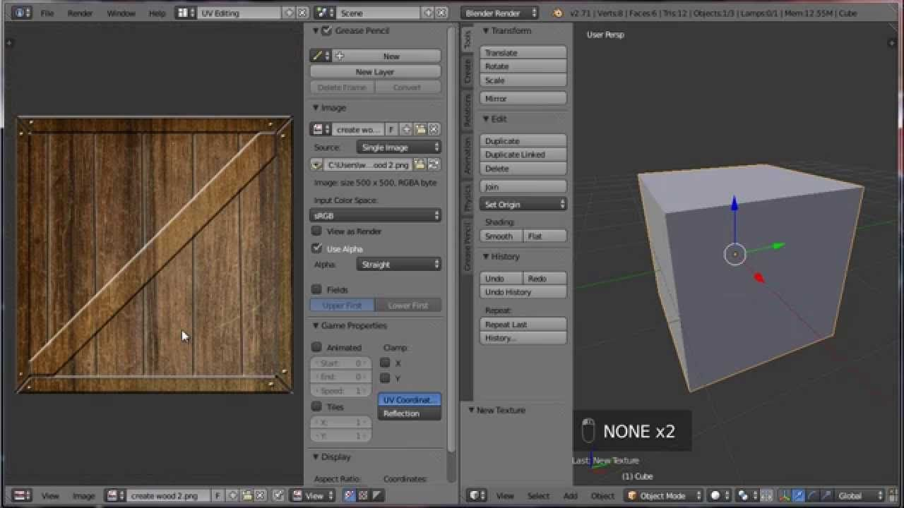 how to apply textures in blender 2.7x (beginners) Blender