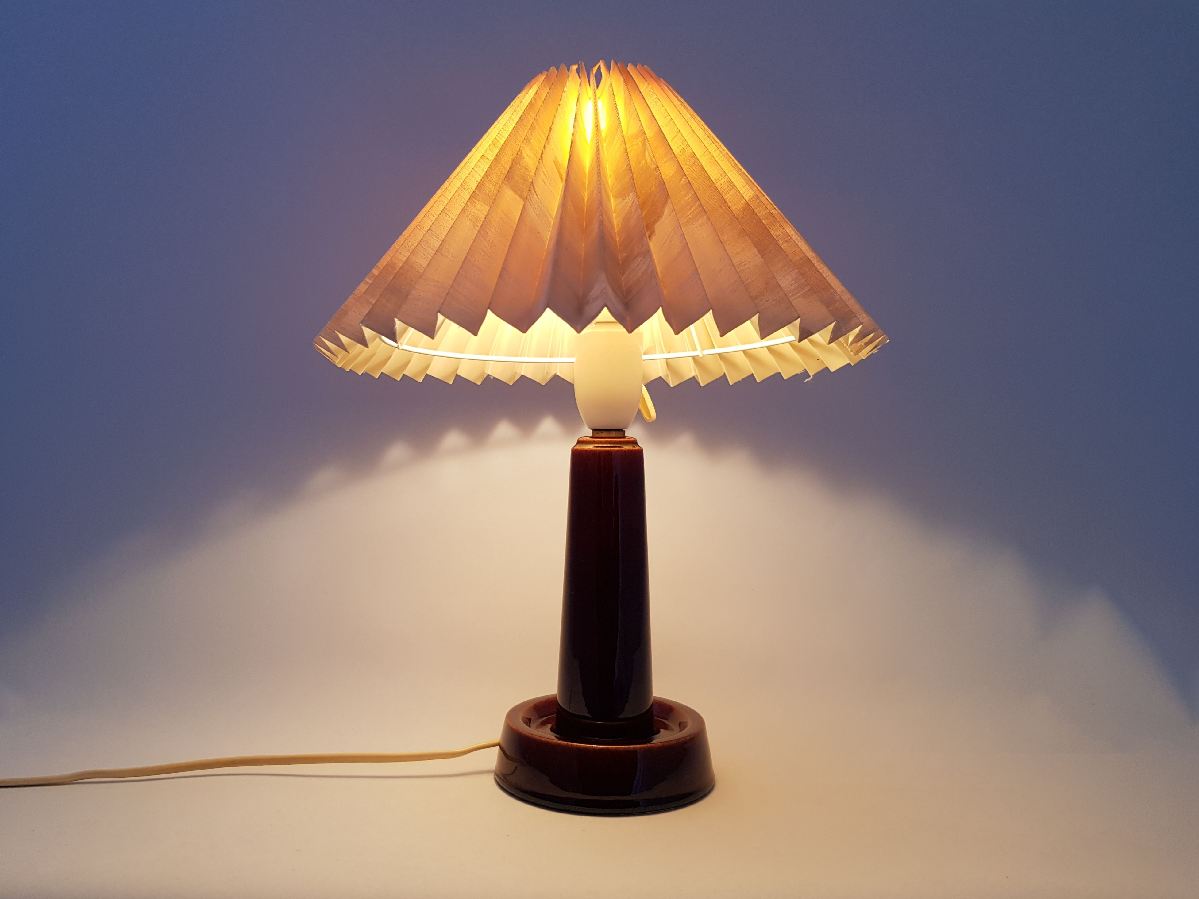 Danish Le Klint Table Lamp Soholm 1960 70s Lamp Table Lamp Ceramic Lamp Base