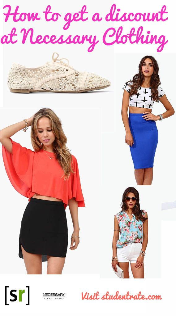 Get A 10 Discount On All Clothing At Necessary Clothing Necessary Clothing Clothes Clothing Retail