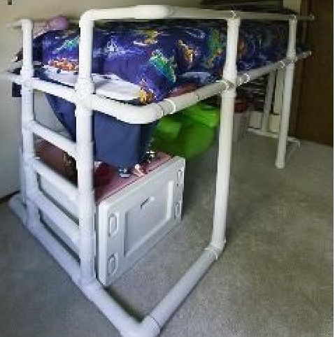 Modify To Make A Raised Pvc Toddler Bed Pvc Pipe Crafts